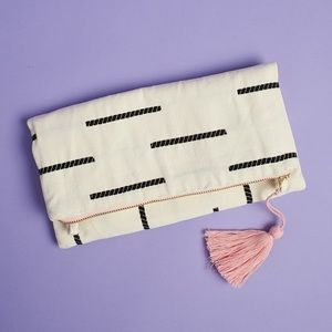 TRIBE ALIVE Clutch with Removable Gold Chain Strap